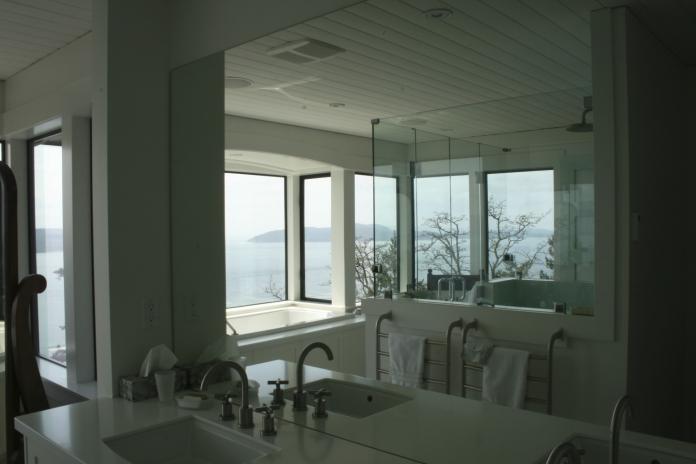Bathroom West Coast Luxury Home on Pender Island built by Dave Dandeneau of Gulf Islands Artisan Homes