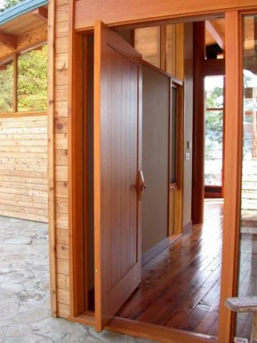 Front Door of West Coast Home on Pender Island built by Dave Dandeneau of Gulf Islands Artisan Homes