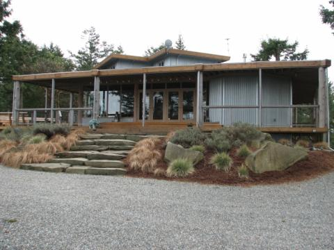 West Coast Steel Home on Pender Island built by Dave Dandeneau of Gulf Islands Artisan Homes