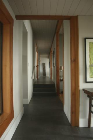 Hallway West Coast Luxury Home on Pender Island built by Dave Dandeneau of Gulf Islands Artisan Homes