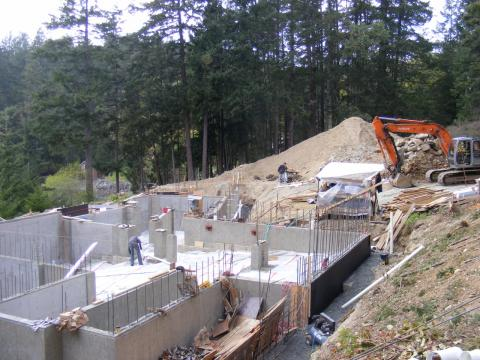 Foundation of a Contemporary West Coast Fusion House by Dave Dandeneau of Gulf Islands Artisan Homes