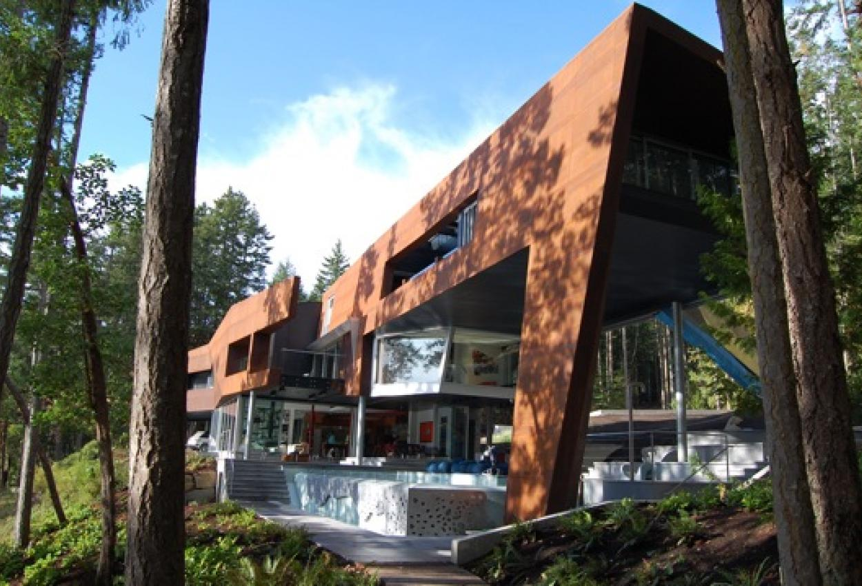 Modern West Coast Home Fusion on Pender Island built by Dave Dandeneau of Gulf Islands Artisan Homes